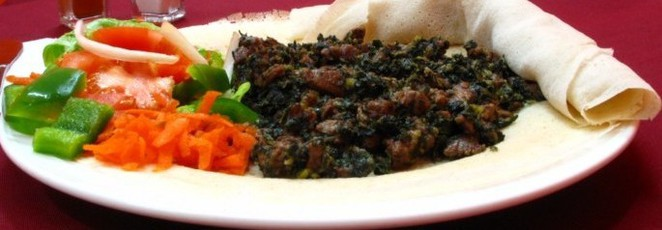 Gomen besage is a great lamb and vegetable Ethiopian dish