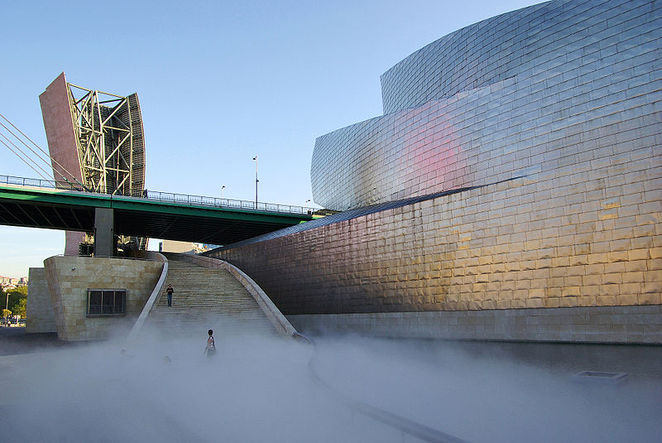 Guggenheim Museum Bilbao, Fujiko Nakaya, fog sculpture, art, national gallery of australia,