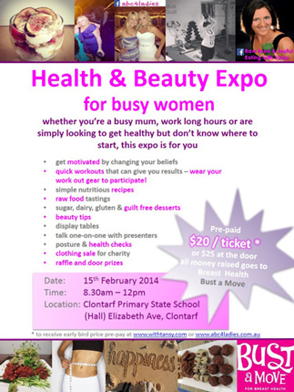 Health and Beauty Expo, Healthy recipes, raw foods, fitness, easy fitness, easy ways to get fit and healthy