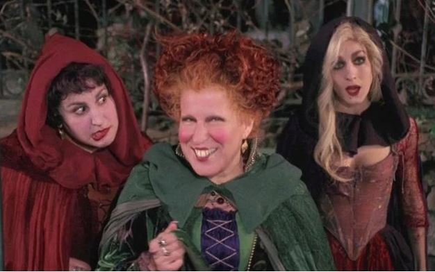 Hocus Pocus, witches, movies about witches, Bette Middler