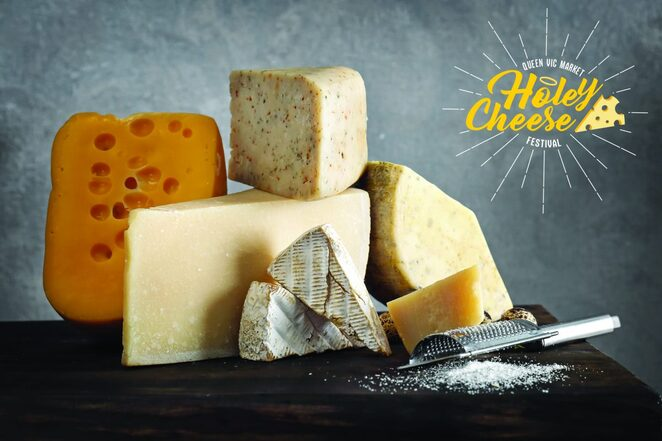 holey cheese festival 2019, community event, fun things to do, queen victoria market, market stalls, cheese and wine, music, market traders, cheesy fare, pop-ups. free event, amore cheese, the cypriot kitchen, 400 gradi, frencheese
