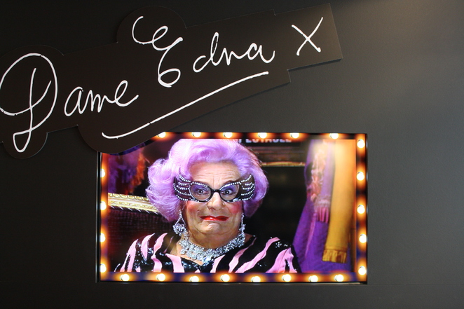 Dame Edna at 60 Years of Edna, Possums! – photo by Jenny Esots