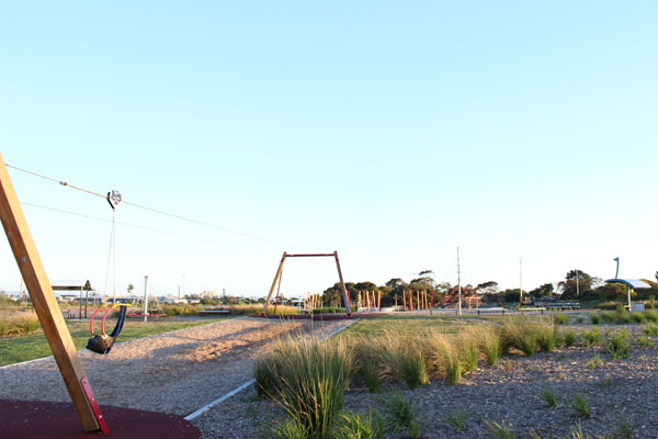 Kardi yarta, playground, free, family friendly, wheelchair access, adventure, aboriginal dreaming, emus, art, slides, swings, flying fox