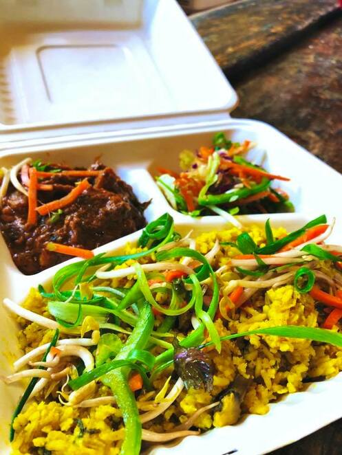 lentil as anything at fawkner commons, fawkner commons, lentil as anything, friday dinner takeaway, food without borders,fbawkner bowling club inc, pay as you feel menu, gluten free, vegan food, not for profit organisation