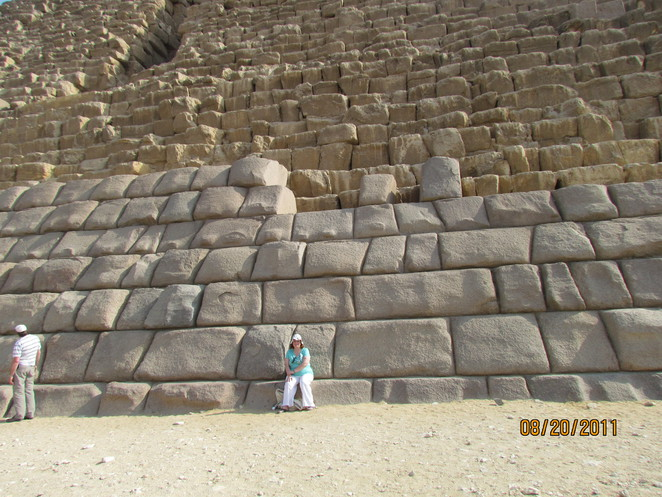 M gets up close to pyramids
