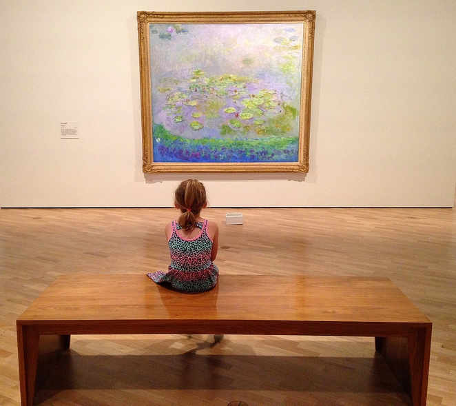 monet, water lillies, nga play indieguerrillas, national gallery of australia, canberra, ACT, school holidays, kids, children, toddlers, activities, free, tidy up vinnies room, art,