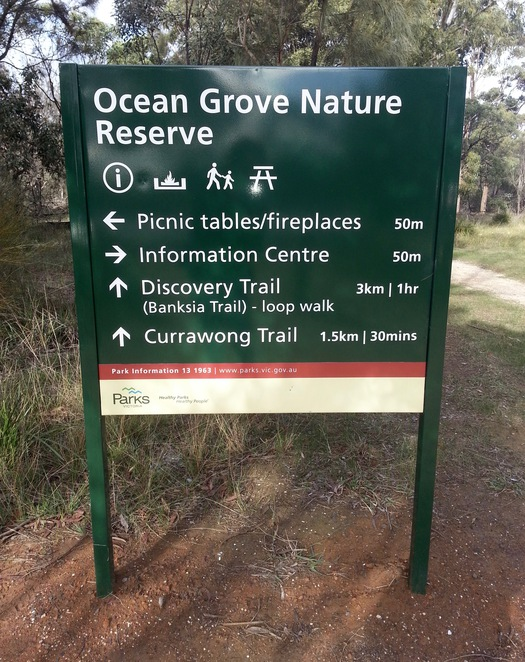 Ocean Grove Nature Reserve, Walking trails, Woodland