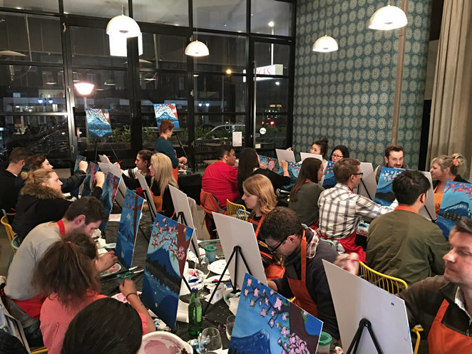 paint for fun, social painting class, art class, revital carmel, luv art, workshop, fun things to do, community event, de-stressing, relaxing, meet new friends, food and wine, fun times, entertainment, social activity, night life, something different, unusual date night