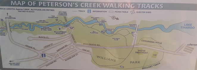 Peterson's Creek Map