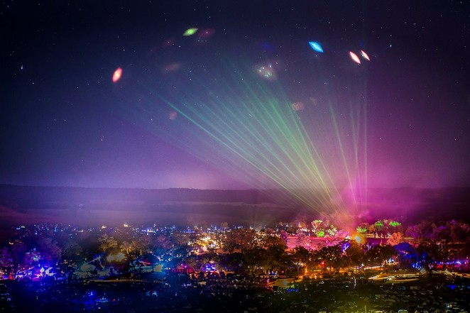 rainbow serpent festival 2016, music festivals in melbourne, music festivals, australia day weekend, lexton, laser and light show, laser show,