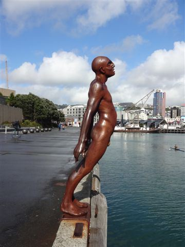 Solace in the wind, Wellington Waterfront