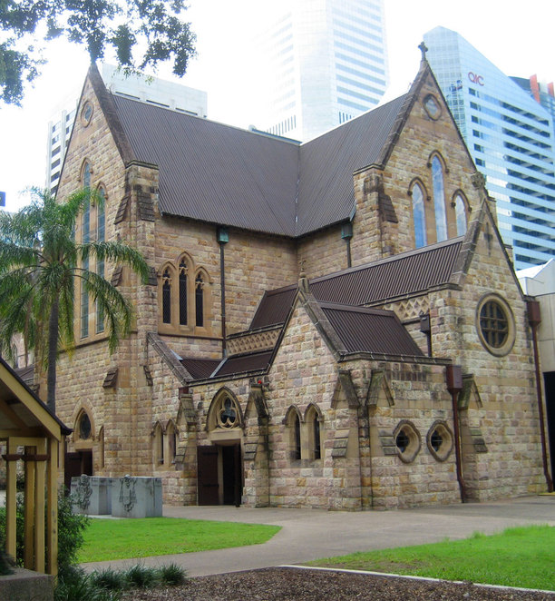 St Stephens Cathedral and grounds is an oasis to relax in within the CBD