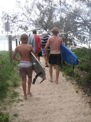 Surf boards and family