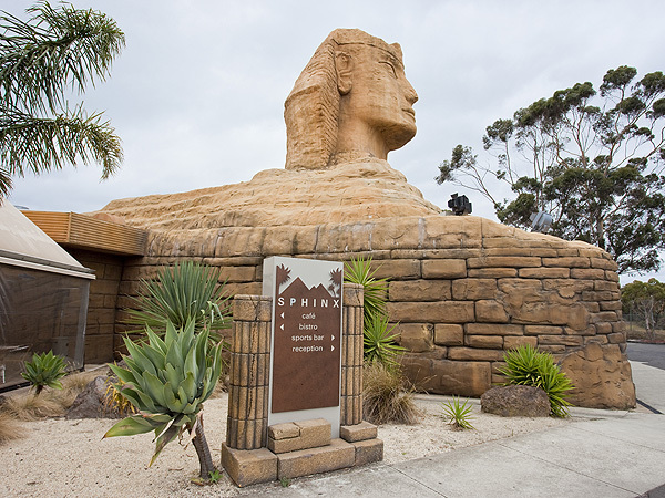 The Sphinx, sitting above the Hotel