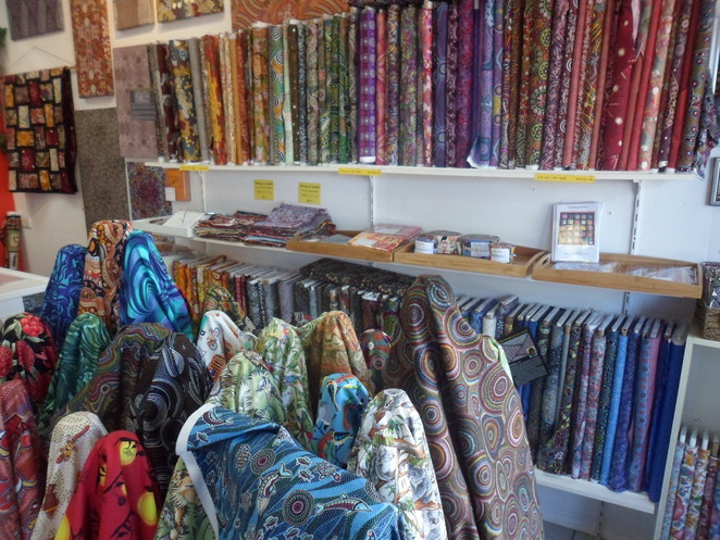 Alice Springs, Aboriginal Fabric Gallery, sewing