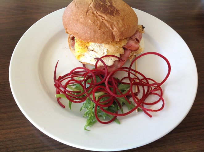 Bacon & egg roll, The Roses Cafe