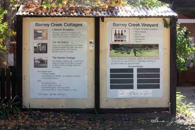 Barney Creek Vineyard Cottages