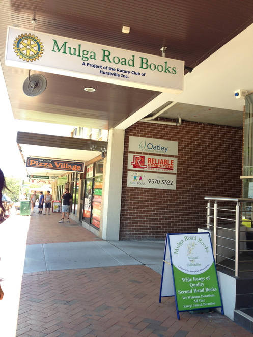books, rotary, second-hand, mulga road, oately, club, donation, charity, community, service, project, fiction, non-fiction, buy, shop