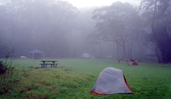 Camping can be fun in any weather