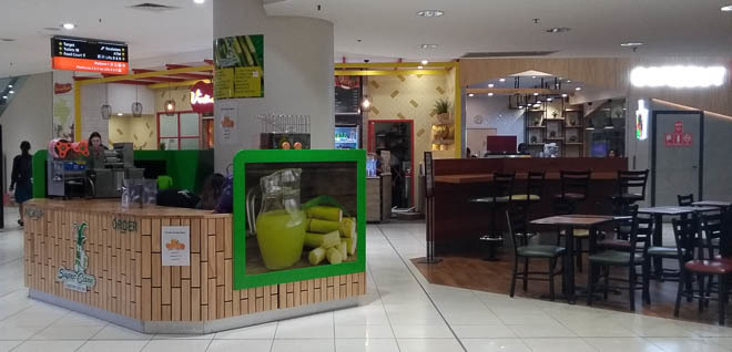 Cane Sugar and Fruit Juice, Myer Centre