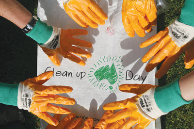 clean up australia, gloves, safety gear