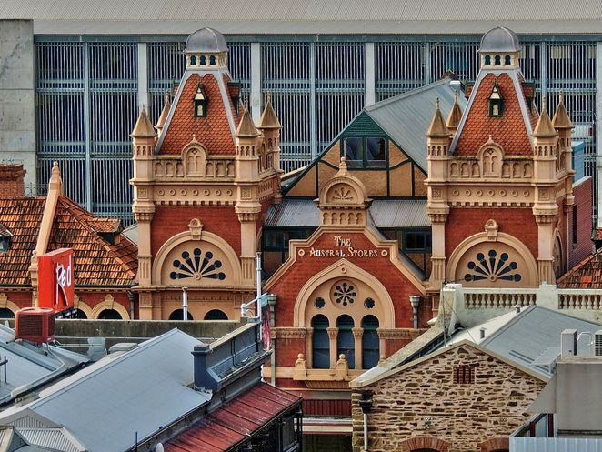 domes in adelaide, domes, Adelaide, cupolas, dome, cupola, wests coffee palace, austral stores