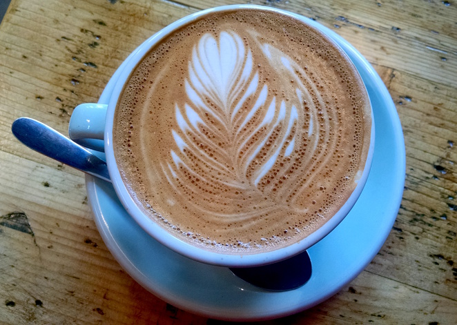 faraday's cage flat white coffee