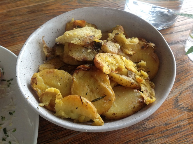 Garlic, Rosemary & Olive Oil Potatoes, Acre Eatery