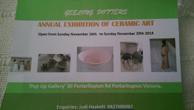 Geelong Potters exhibition