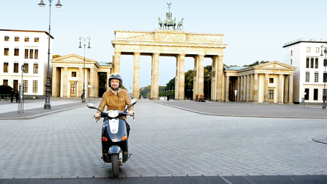 Go With Le Flo on a Vespa at Berlin's Brandenburg Gates