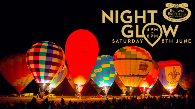 hot air balloon, hot air balloon night glow, brown brothers winery, brown brothers hot air balloon night glow,