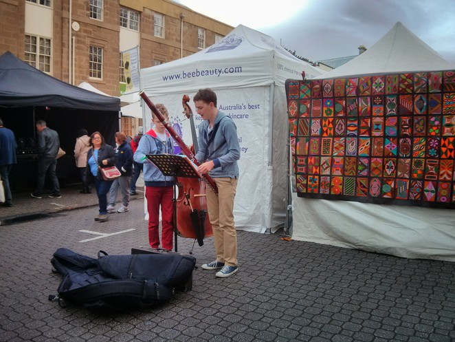 Live music at Salamanca Market