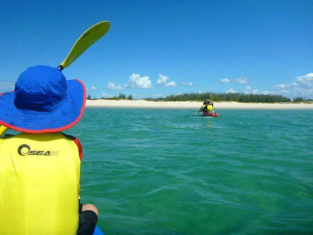 Paddling to the northern tip of Bribie Island