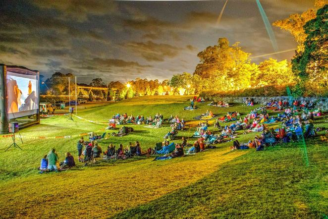 More outdoor movies on the Sunshine Coast, pop-up movies, mobile outdoor movie theatres, picnics, your own Gold Class experience, Polar Express, Cooroy Library Rooftop, Arthur Christmas, Nambour, fundraiser, Thriving Families Nambour, Coolum Beach Flicks, Tickle Park, ELF, Peter Rabbit