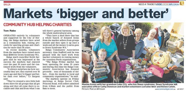newspaper,article,on,Balga,Friday,Markets