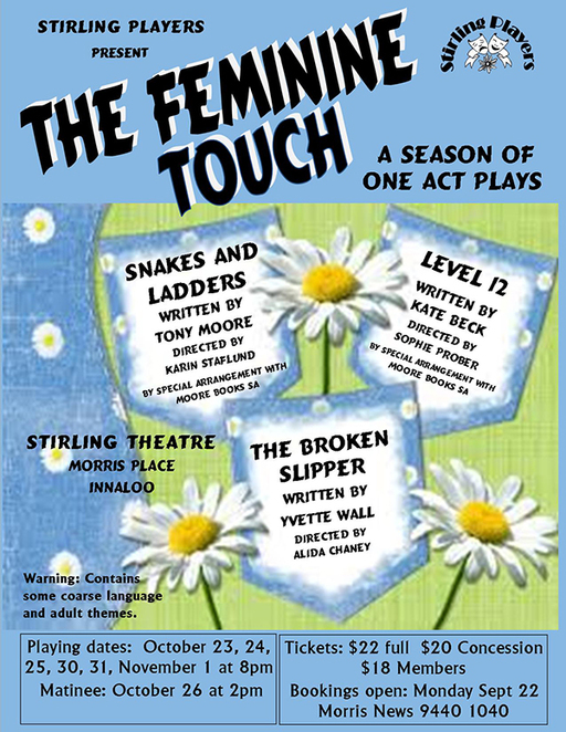 One Act Plays, Stirling Players, Playlovers, Cinderella