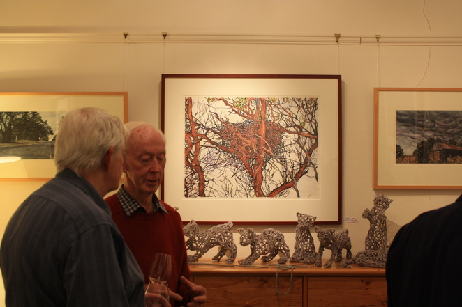 Opening Night with centre piece artwork Crow's Nest