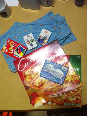 Classic Collections of Card Games with Pizza and Pyjama