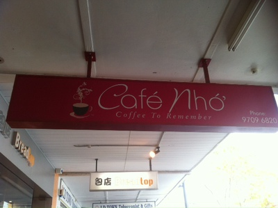 A local favorite chill out place: Cafe Nho