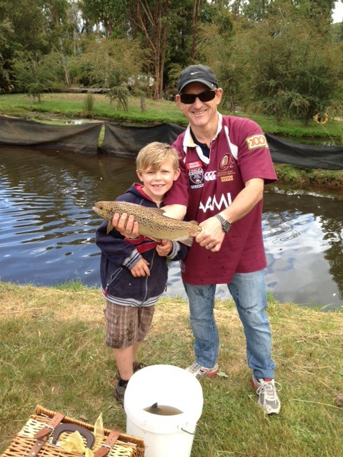 Trout farm fishing at marysville trout salmon ponds for Trout farm fishing near me