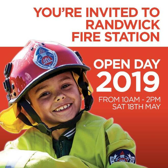 randwick fire station open day 2019, community event, fun things to do, fire and rescue nsw station 039 randwick, firemen, fire and rescue service, free event, safety demonstrations, fire station tours, inspect firefighting equipment, fire trucks, firefighters on hand, fire safety in the home, install and maintain smoke alarms, home escape plan