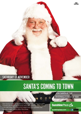 Santa Claus is coming to the Sunshine Plaza/Image from sunshineplaza.com