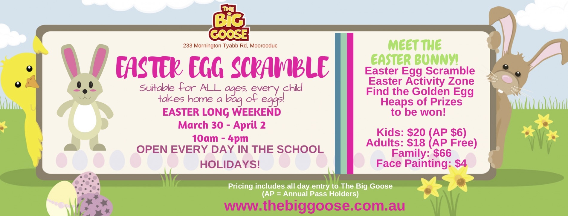 The big goose easter egg scramble melbourne the annual easter egg scramble returns to the big goose this easter long weekend negle Gallery