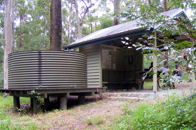 Camp sites in South D'Aguilar National Park include water tanks and picnic shelters
