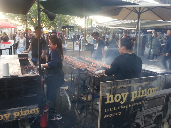 Smell the grilled meat skewers