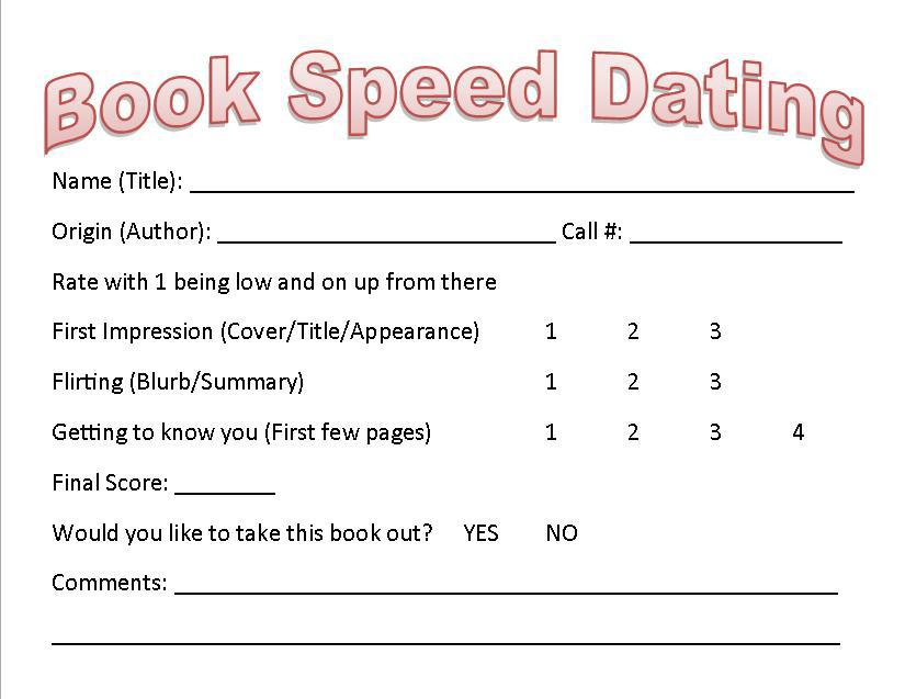 Questionnaire speed dating