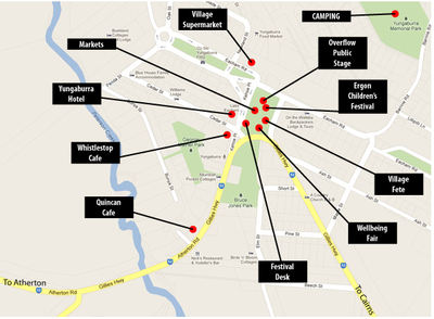Tableland Folk Festival Map