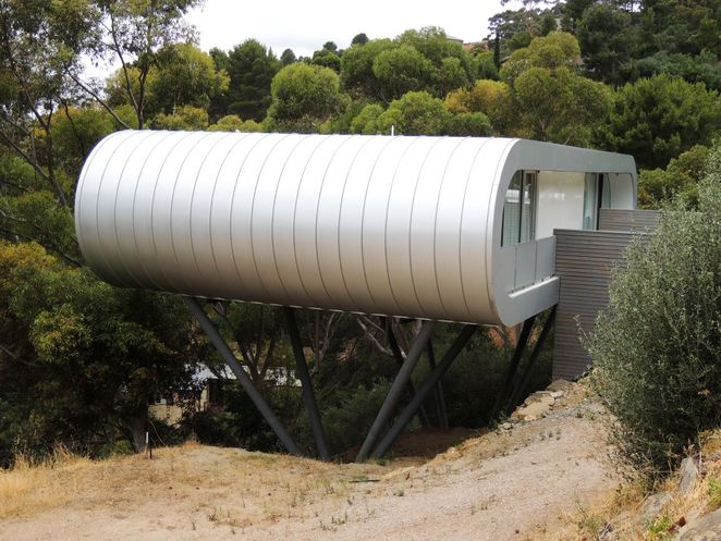 adelaides most unusual houses, unusual houses, christie walk, in adelaide, adelaide hills, green homes, sustainable, mansions, houses in adelaide, house on poles