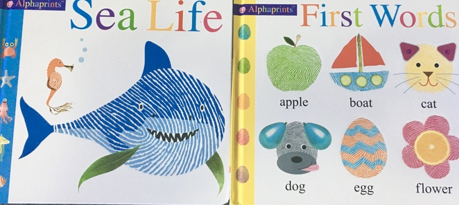 Alphaprints, tactile kids books, fun and cheap kids books, cheap Christmas books for kids, cheap kids books, image by Jade Jackson.