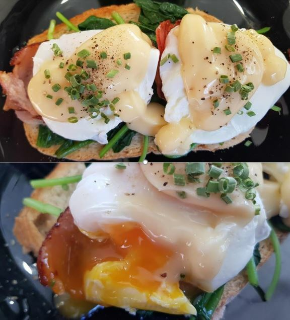 bacon benedict, calypso cafe and juice bar wolli creek